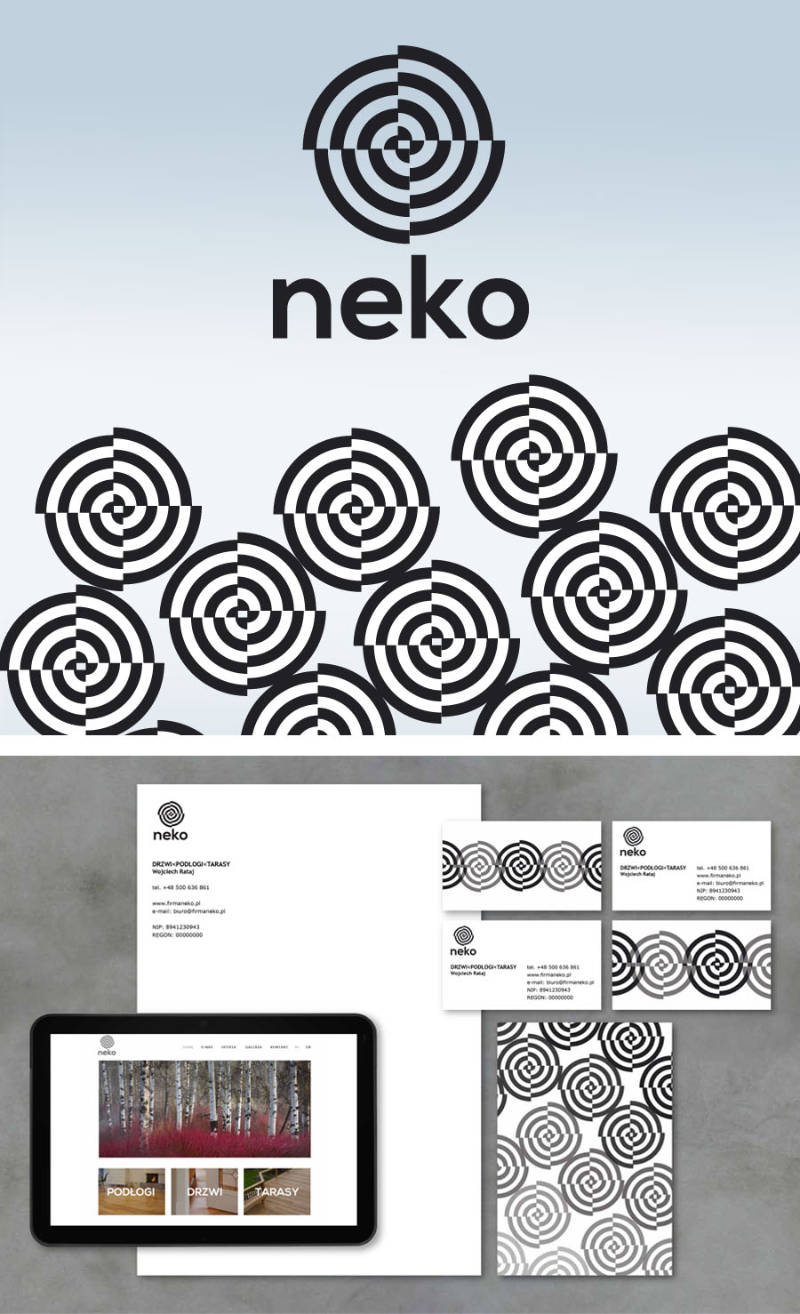 """NEKO"" Door Floor Terraces Corporate Identity"