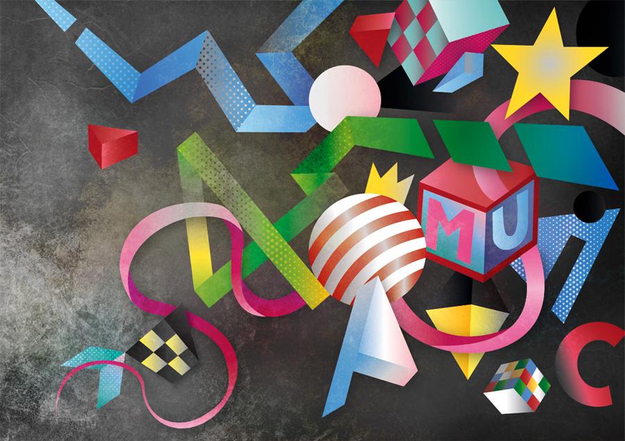 "Vector illustration ""40 Music"""