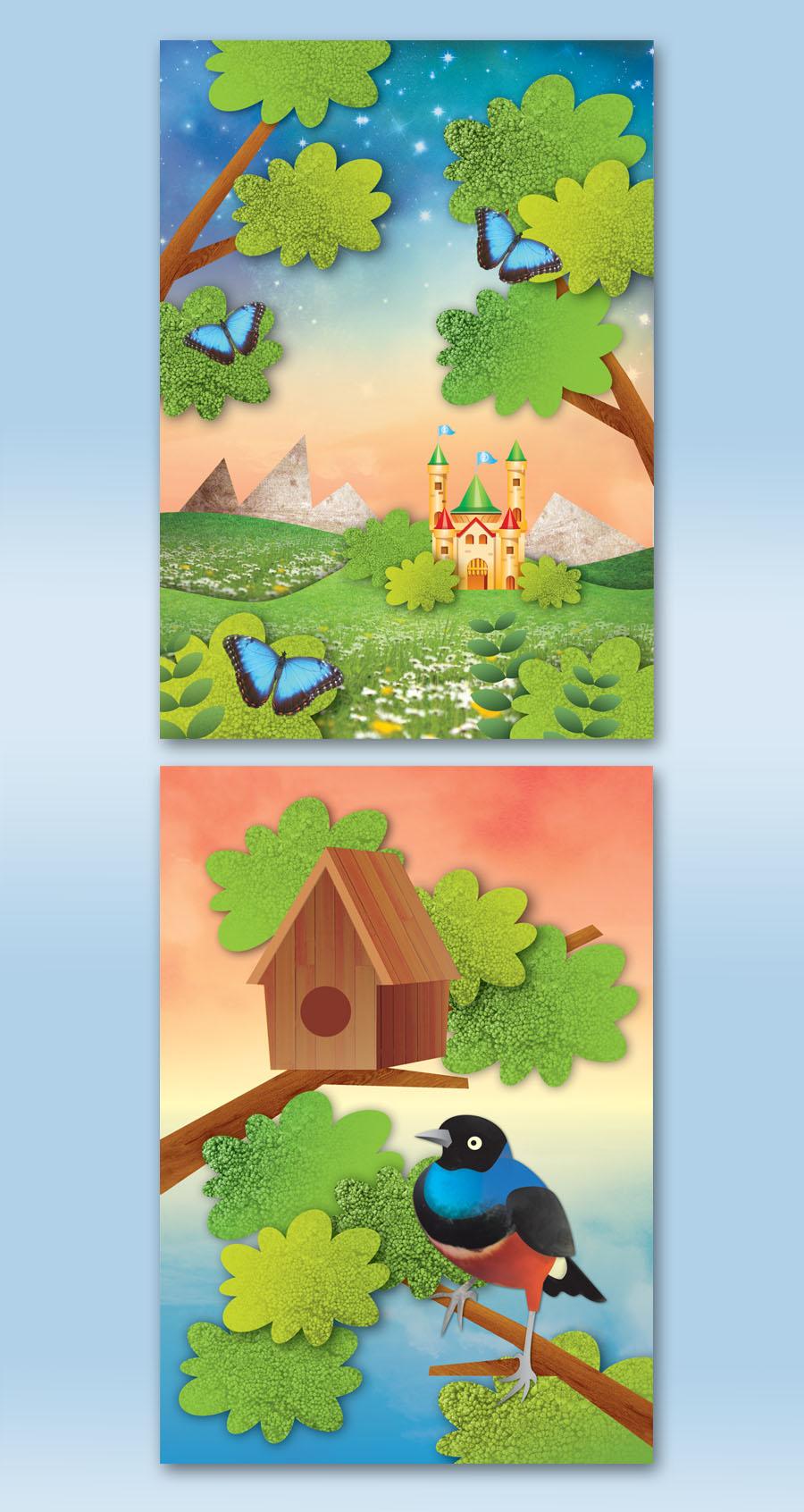 "Vector illustration ""Broccoli tree"""
